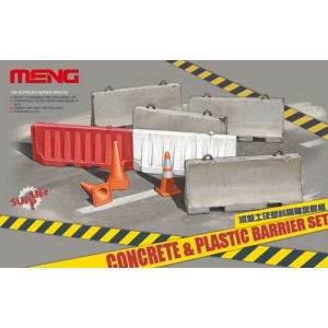 Concrete and Plastic barriers
