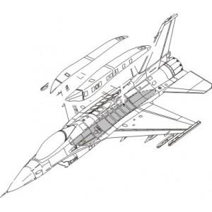 F-16C Conformal Fuel Tank 1/72