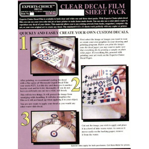 Clear decal film three sheet pack