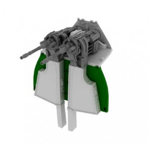 MG 131 mount for Fw-190D-9 1/48