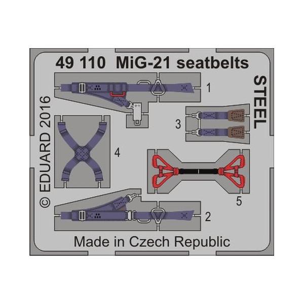 MiG-21 seatbelts STEEL 1/48
