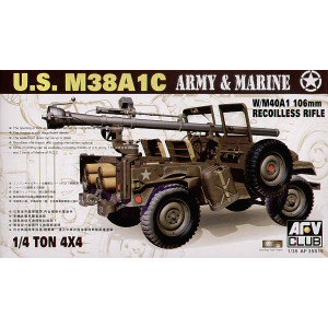 M38A1C with US M40A1 106mm recoiless rifle