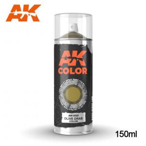 150ml Olive Drab Color Spray Can AK-1025 AK Interactive