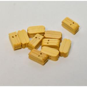 Box Wood Double Block 7mm 10pcs