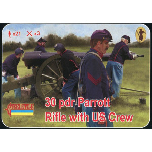 30 pdr Parrott Rifle with US crew American Civil War