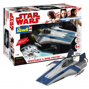 Star Wars Episode VIII Build & Play Blue A-Wing Fighter, With Lights & Sounds