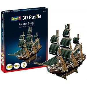 3D Puzzle, Multi-Colour Pirate Ship