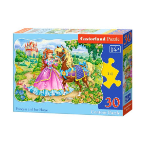 The Princess and her Horse 30pcs Puzzle
