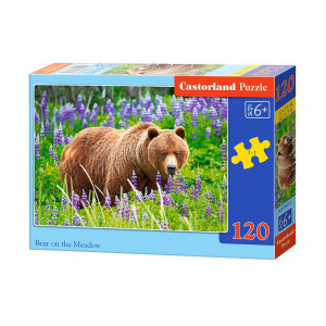 Bear on the Meadow Puzzle 120 pcs