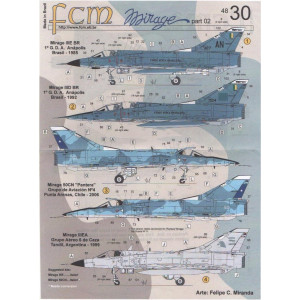 Mirage decals for Brazilian,Chilean and Argenina Air Force part 02