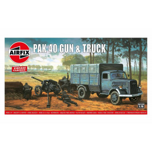Pak 40 Gun & Truck 1/76