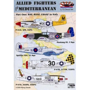 Allied Fighters over the Mediterranean