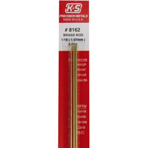 Round Brass rod 1.57mm 3 pcs