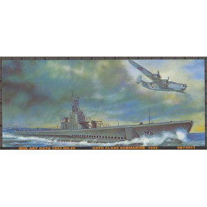 USS Gato Class Clas Submarine 1943