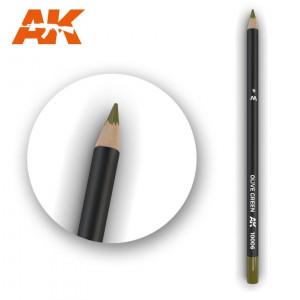 AK10006 Olive Green Watercolor pencil