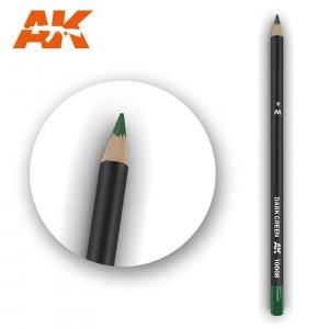 AK10008 DARK GREEN Watercolor pencil