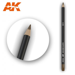 AK10028 EARTH BROWN Watercolor pencil