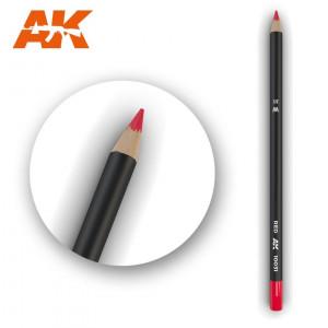 AK10031 RED Watercolor pencil