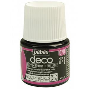 Acrylic Gloss  PEBEO DECO 45ml BLACK