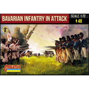 Bavarian Infantry in Attack Napoleonic