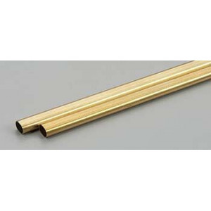 Large Brass Oval Tube 1pc