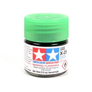X-25 Clear Green Acrylic 10ml