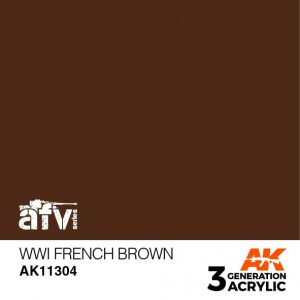 AK11304 WWI FRENCH BROWN AFV