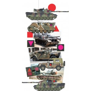 Greek Army Tactical Signs 1/87